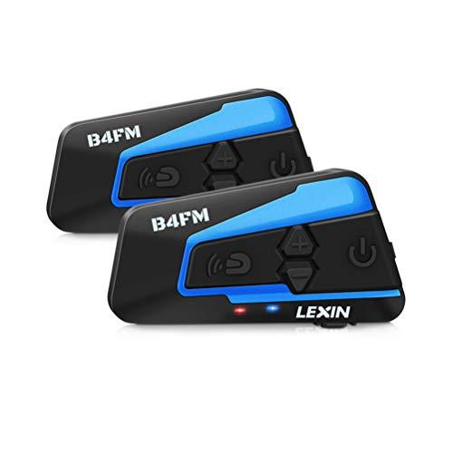 LEXIN B4FM 2X Motorrad Bluetooth Headset, Helm Intercom Geräuschreduzierung, Kommunikationssystem für Motorräder, Freisprechanlage bei Motorradfahren und Skifahren