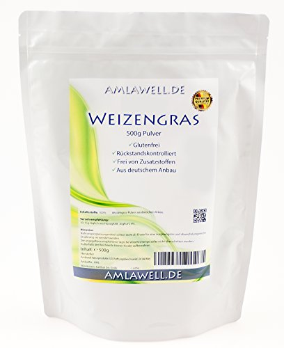 Amlawell Weizengraspulver / 500g / Weizengras aus deutschem Anbau