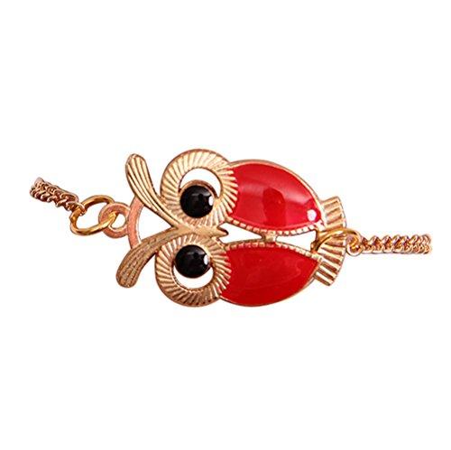 Qiuday Unendlichkeits-Eulen-Perlen-Freundschafts-mehrschichtiges Charme-Lederarmband-Geschenk Mode frauen schöne eule schmuck zubehör freundschaft charme armbänder geschenk (Valentine-silikon-armbänder)