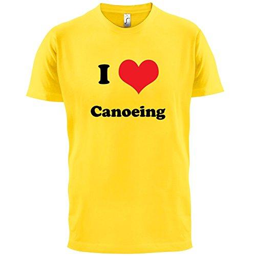 I Love Canoeing - Herren T-Shirt - 13 Farben Gelb