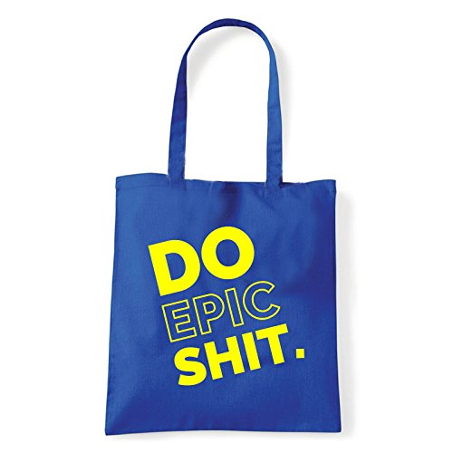 Art T-shirt, Borsa Shoulder Do Epic Shit, Shopper, Mare Blu