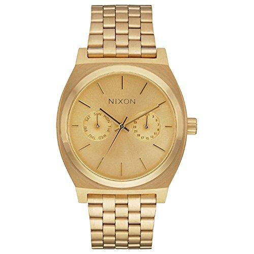 Nixon Damen-Armbanduhr Time Teller Deluxe Analog Quarz Edelstahl beschichtet A922502-00 (Nixon-armbanduhr Frauen)