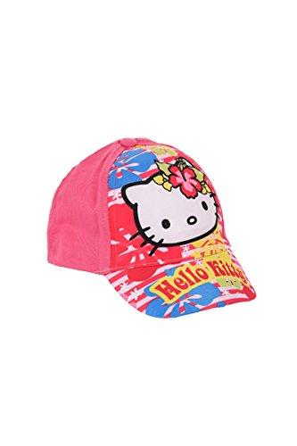 Hello Kitty Kappe, Baseball Cap, Schirmmütze für Kinder, Mädchen, 100% Baumwolle mit Klettverschluss verstellbar (52, Pink) Hello Kitty Baseball