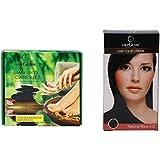 Oxyglow Meni Pedi Care Kit With Oxyglow Hair Colour Cream-Black