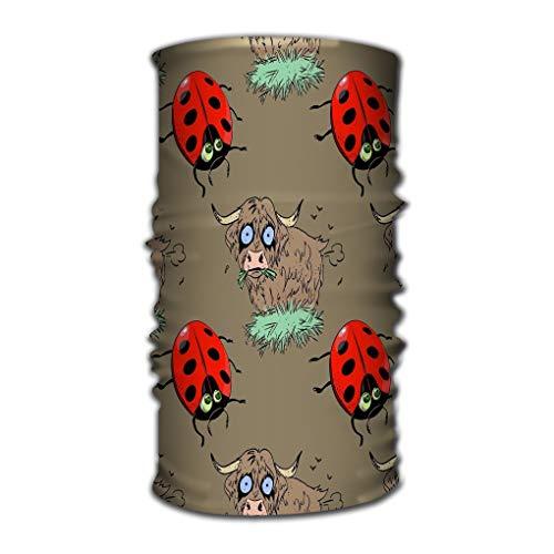 Xunulyn Stirnband Bandana Headband Outdoor Daily Yoga Magic Headscarf Multifunctional UV Protection Bundle Ladybug Farting Bull Cartoon Characters Quirky ladybu - Bulls Magic Pack