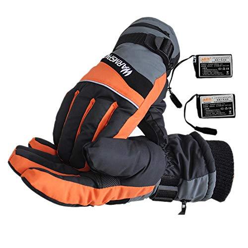 Guantes calentamiento eléctrico USB Calentador manos Cargando Calefacción Fiebre dedos Seguridad Temperatura constante Hombres y mujeres Senderismo Montañismo Esquiando Al aire libre Invierno