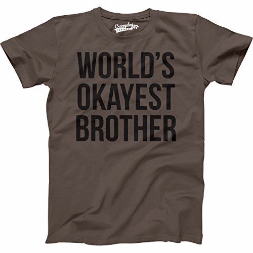 59e05971 Mens Worlds Okayest Brother Shirt Funny T Shirts Big Brother Sister Gift  Idea (Brown)