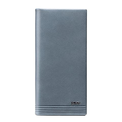 BVP Top Stylish Men's Wallet Q517 Blue Purse Full Grain Leather (Roper)