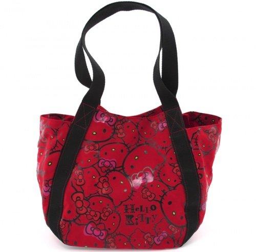 Borsa Donna Shopper Piccola Hello Kitty Mix Face Rossa - HK17324