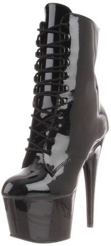 Lack High Heel Stiefel (Pleaser Damen ADORE-1020 Kurzschaft Stiefel, Schwarz Pat/Blk, 36 EU)