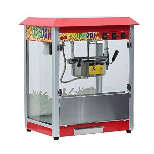 Tatayang Retro Popcornmaschine, Elektrisch Kommerziell Popcorngerät Popcorn Maker, Edelstahl Wärmedämmung Corn Popper Kocher mit Edelstahl-Topf für Bartischplatte (1400W)