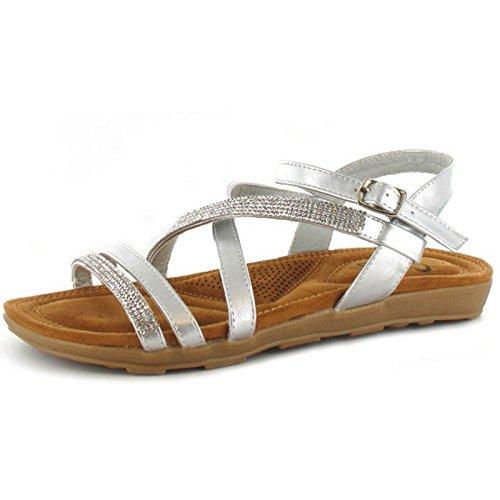 Silber - Silber - Größe: 40 (Ella Silber Schuhe)