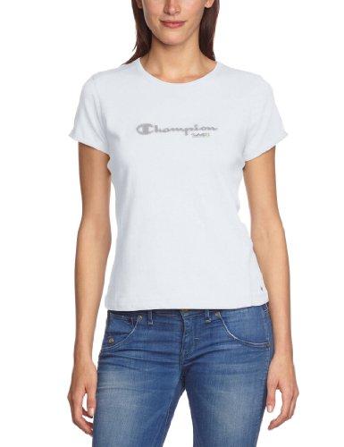 Champion T-shirt à encolure ras du cou pour femme Blanc