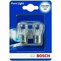 Bosch 1987301016 Pure Light - Bombilla P21/5W (para luz de freno, intermitentes, matrícula, etc.)