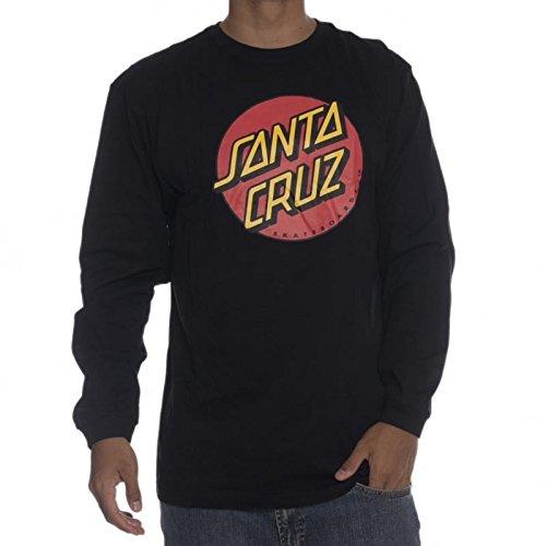 Santa Cruz Classic Dot-Maglietta a maniche lunghe per uomo nero S