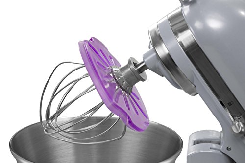 Whisk Wiper® PRO for Stand Mixers - Mix Without The Mess - The Ultimate Stand Mixer Accessory - Compatible with KitchenAid Tilt-Head Stand Mixers - 4.5qt, 5qt (Color: Violet)