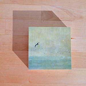 Fotografie auf Holz I Holzdruck I Fotokunst I Geschenk I Ostsee I Möwen I Claudia Drossert