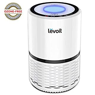 Levoit Air Purifier with True HEPA & Active Carbon Filters, Compact Purifiers Filtration with Night Light, No Ozone, PM Eliminator Cleaner for Allergies, Home, Pets Dander, Smokers, Cooking, LV-H132