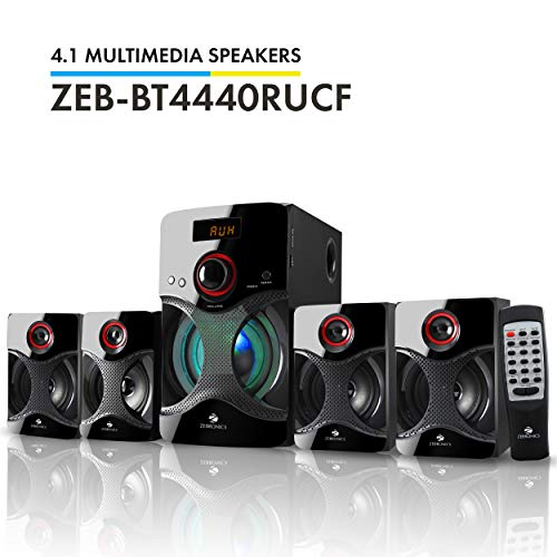 Zebronics BT4440RUCF 4.1 Channel Multimedia Speakers