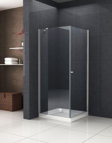 duschwand ecke Duschkabine Deto-Fix 90 x 90 x 190 cm ohne Duschtasse