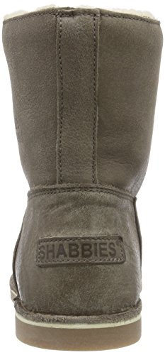 Shabbies Amsterdam Shabbies Ladies Short Boot 16cm With Real Wool Lining Alissa As Fw2014, Bottes Classics courtes, doublure chaude femme Marron - Braun (Taupe 301)