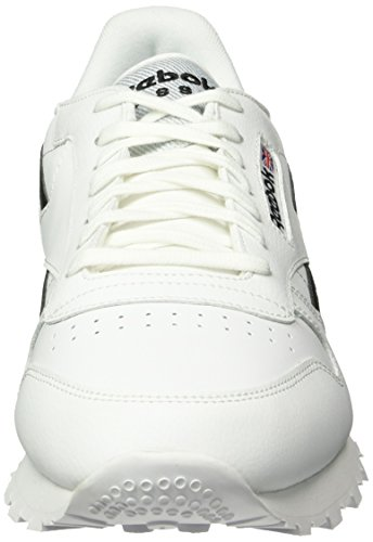 Reebok Classic Leather Pop, Sneakers basses homme Blanc (White/Black)
