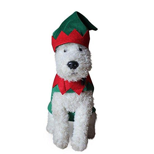 Weihnachten Elf Hund Kostüm LNAG , (Kostüme 100 Hund Pfund)