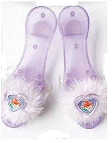 Zapatos de tacón para disfraz infantil de la princesa de Disney Ariel, talla única