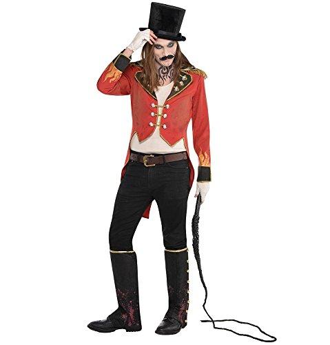 Halloween Freakshow Zirkusdirektor Frack- Kostümzubehör Herren Gr. (Kostüm Zirkusdirektor Jacke)