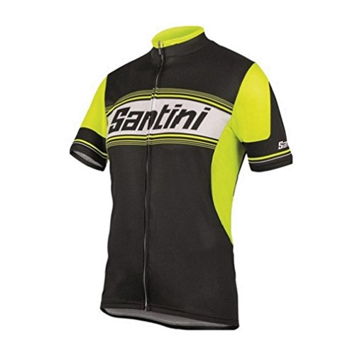 Santini, Maglietta a maniche corte Fashion Tau Road, Giallo (Yellow), XXL
