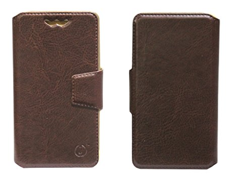 J Cover Kenger Series Leather Pouch Flip Case With Silicon Holder For XOLO Q800 X-Edition Brown  available at amazon for Rs.490