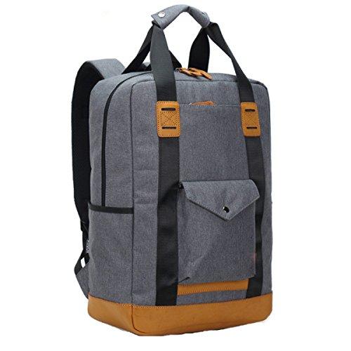 Herren Schultertasche Computer Rucksack Freizeit Rucksack Student Reisetasche,Grey-L