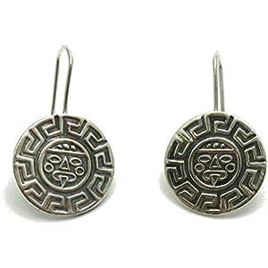 Stilvolle silber ohrringe Mäander 925 Empress jewellery