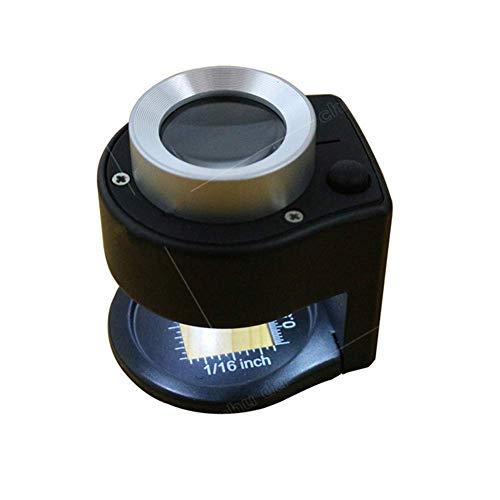 Fangfang GAO magnifier Lupe, Älterer Zeitungslesespiegel, LED-Licht, Proportionallupe -