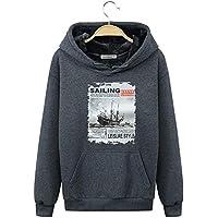 YA Otoño Hooded Sweater Men 's Cap Sports Sudadera con Capucha Chaqueta Hombres Estudiante Hombres velero,5XL.