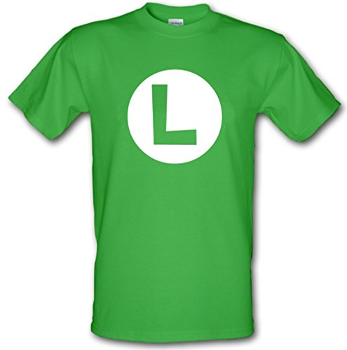 Adults Luigi Logo T-shirt, Irish Green