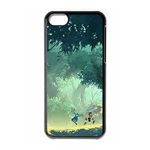 Y4Q81 légendes de rayman D5Z2LM cas d'coque iPhone de téléphone cellulaire 5c couvercle coque noire WT5VZQ2QY
