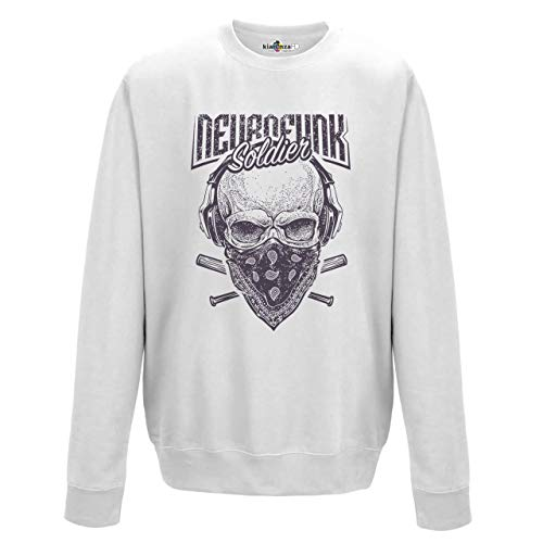 KiarenzaFD Musik-Rock Lustiger Totenkopf Urban Vintage, KFG02156-XXL-white, weiß, XXL - Pantera-metal-skull T-shirt