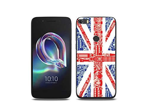 etuo Handyhülle für Alcatel Idol 5 - Hülle, Silikon, Gummi Schutzhülle Fantastic Case - Britische Flagge