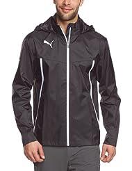 PUMA Jacke King Rain Jacket - Chubasquero para hombre, color negro / gris, talla M
