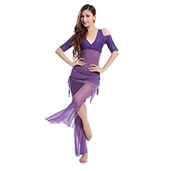 H:oter Special Shoulder Design Belly Dancing Costumes Set--A Three-Piece, Price/Set