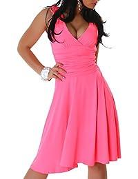 Damen Trägerkleid Kleid, Sommerkleid in vielen Saisonfarben erhältlich, Einheitsgröße (32-36)
