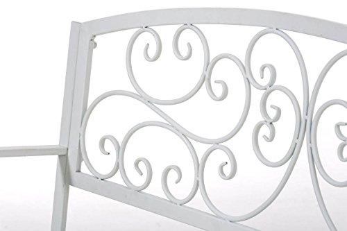 CLP Gartenbank AZAD im Landhausstil, Eisen lackiert, ca 110 x 50 cm Weiß - 5