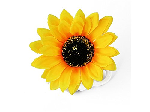 Schön Mode Sonnenblume Blume Clips Sunflower Entenschnabel Clip Haar Zubehör (gelb) Haarschmuck