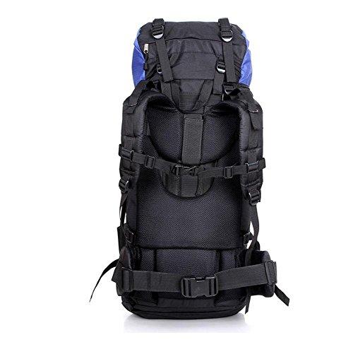 SZH&BEIB Wanderrucksack Extra Large Kapazität 80L für Outdoor-Reisen Bergsteigen Tasche wasserdicht Nylon A
