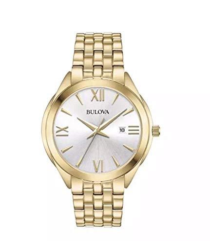 Bulova Reloj Analógico para Mujer de Cuarzo con Correa en Acero Inoxidable 97L160
