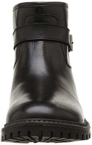 Pieces Uda Leather Short Boot, Boots femme Noir (Black)