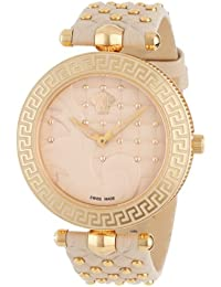 """Versace Women's VK7020013 """"Vanitas"""" Rose Gold Ion-Plated Watch with Two Interchangeable Leather Straps"""