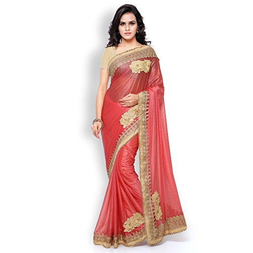 Shree Mira Impex Women's Saree With Blouse Piece (New(Fb)-03_Pink)