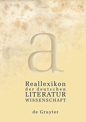 Reallexikon der deutschen Literaturwissenschaft: Neubearbeitung des Reallexikons der deutschen Literaturgeschichte. Bd. I: A – G. Bd. II: H – O. Bd III: P – Z